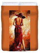 Lady In Red  39 Duvet Cover