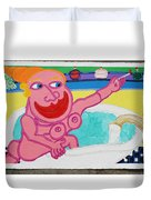 Lady In The Tub Duvet Cover
