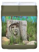 Lady In Wood Duvet Cover