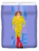 Lady In Yellow Duvet Cover
