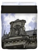 Lady Justice City Hall Cologne Germany Duvet Cover