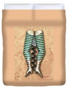 Lady Legs Corkscrew Painting Duvet Cover