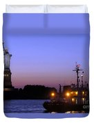 Lady Liberty At Dusk Duvet Cover