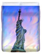 Lady Liberty Blues Duvet Cover