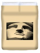 Lady Liberty In Sepia Duvet Cover