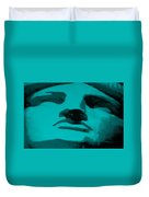 Lady Liberty In Turquois Duvet Cover