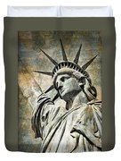 Lady Liberty Vintage Duvet Cover