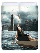 Lady Of Llyn-y-fan Fach Duvet Cover