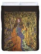 Lady Of Swirl Duvet Cover