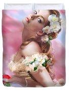 Lady Of The Camellias Duvet Cover by Drazenka Kimpel