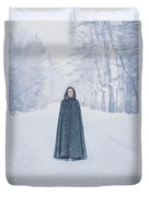 Lady Of The Winter Forest Duvet Cover