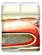 Lady On Red Duvet Cover