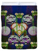 Lady Panda Welcomes Spring In Love And Light And Peace Duvet Cover