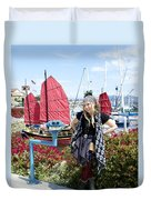 Lady Pirate And Friend Duvet Cover