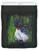 Lady Pleaser, Rooster  Duvet Cover