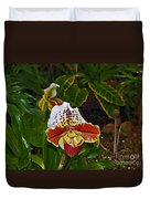 Lady Slipper Orchid Duvet Cover