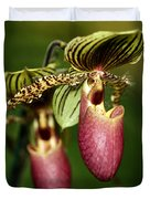 Lady Slipper Orchid Twins Duvet Cover