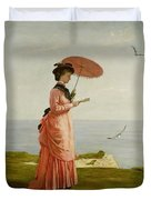 Lady Tennyson On Afton Downs Duvet Cover