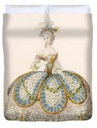Lady Wearing Dress For A Royal Duvet Cover