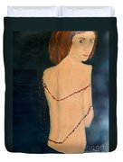 Lady With Beads From Shan Pecks Photograthy  Duvet Cover