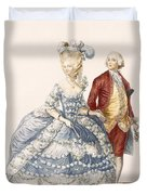 Lady With Her Husband Attending A Court Duvet Cover