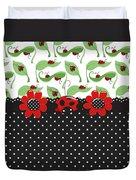 Ladybug Flower Power Duvet Cover