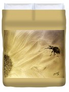 Ladybug On A Sunflower Duvet Cover