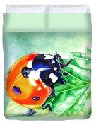 Ladybug On The Leaf Duvet Cover