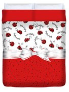 Ladybug Red And White  Duvet Cover