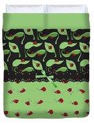 Ladybug Splash Duvet Cover