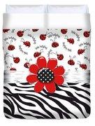 Ladybug Wild Thing Duvet Cover