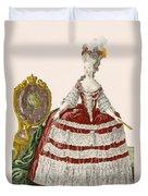 Ladys Court Gown In Dark Cherry Duvet Cover