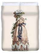 Ladys Summer Walking Gown, Engraved Duvet Cover