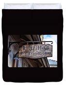 Lafittes Blacksmith Shop Sign Duvet Cover