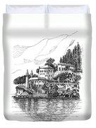 Lago Di Como-lenno - Vila Del Bilbianello Duvet Cover