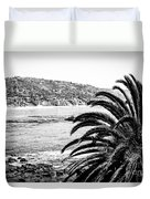 Laguna Beach California In Black And White Duvet Cover