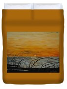 Laguna Madre Sunset Duvet Cover