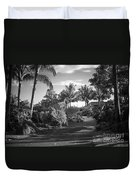 Lahaina Palm Shadows Duvet Cover