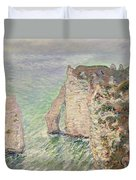 Laiguille And The Porte Daval   Etretat Duvet Cover