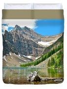 Lake Agnes In Banff Np-alberta Duvet Cover