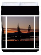 Lake Almanor Sunset Triptych Duvet Cover