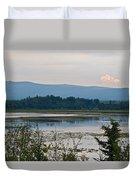 Lake Along Klondike Highway-yt Duvet Cover