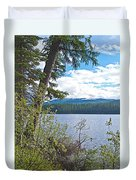 Lake Alva From National Forest Campground Site-yt Duvet Cover