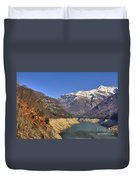 Lake And Snow-capped Mountain Duvet Cover