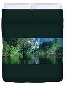 Lake And Trees, California Duvet Cover