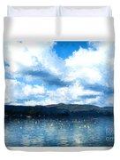 Lake Background Duvet Cover