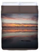 Lake Cassidy Reflections Dramatic Clouds Duvet Cover