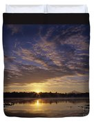 Lake Cassidy With Mount Pilchuck Duvet Cover