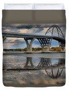 Lake Champlain New Bridge Duvet Cover