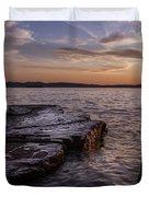 Lake Champlain Sunset Burlington Vermont Oakledge Park Duvet Cover